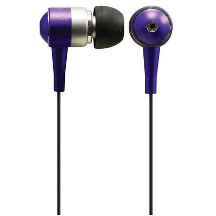 Solight slúchadlá, špunty, 10mm, metalická farba, fialová