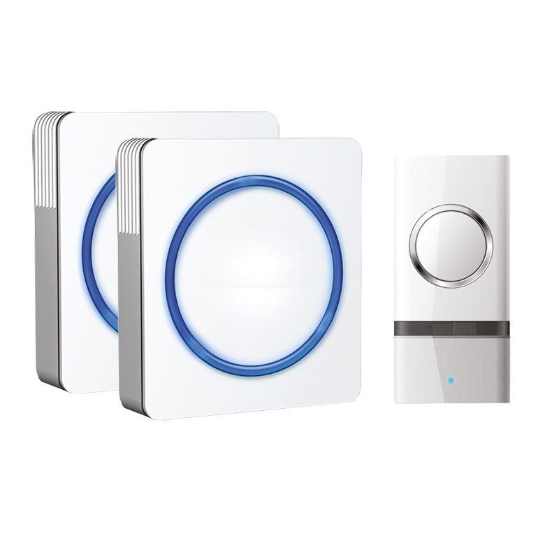 Solight 2x bezdrôtový zvonček, do zásuvky, 120m, biely