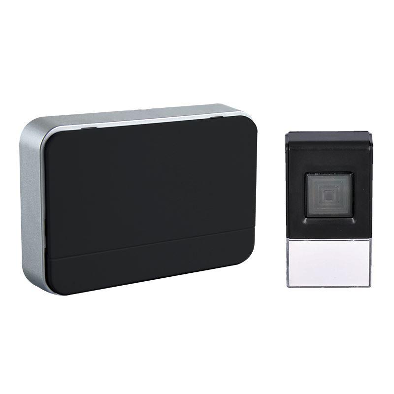 Solight bezdrôtový zvonček, 120m, nastavenie hlasitosti, čierny, 2 x AA baterie