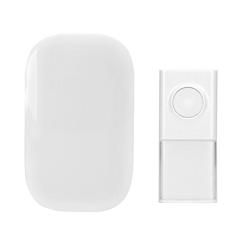 Solight bezdrôtový zvonček, do zásuvky, 150m, biely, learning code