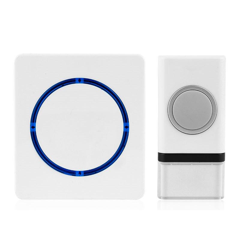 Solight bezdrôtový zvonček, batériový, 120m, biely