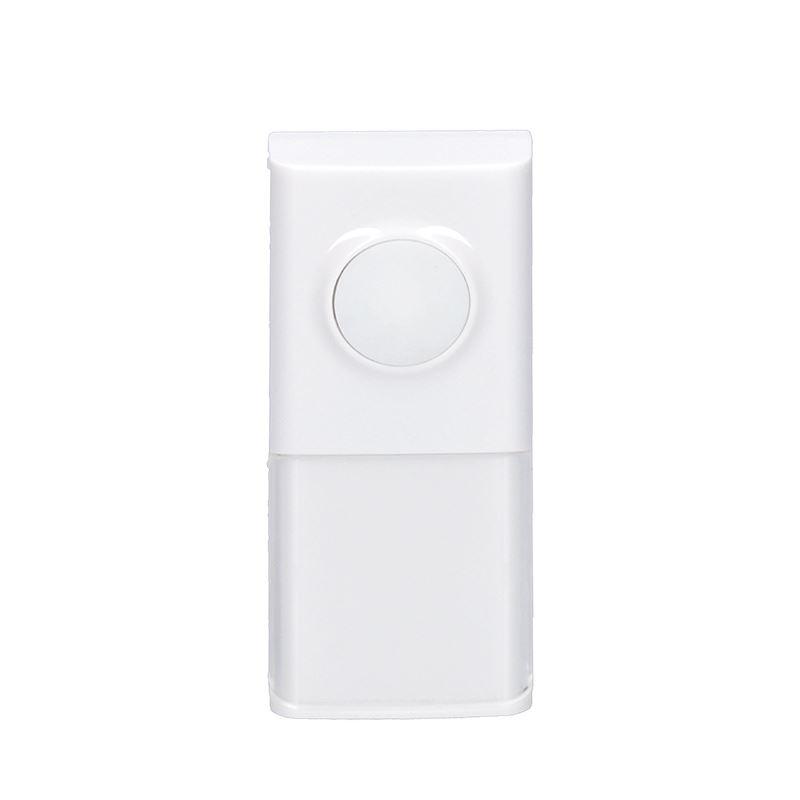Solight bezdrôtové tlačidlo pre 1L54, 1L54DZ, 1L55, 120m, biele, learning code, kryt na menovku