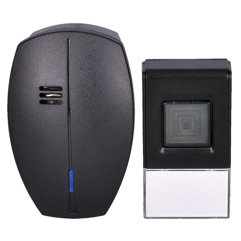 Solight bezdrôtový zvonček, do zásuvky, 120m, čierny