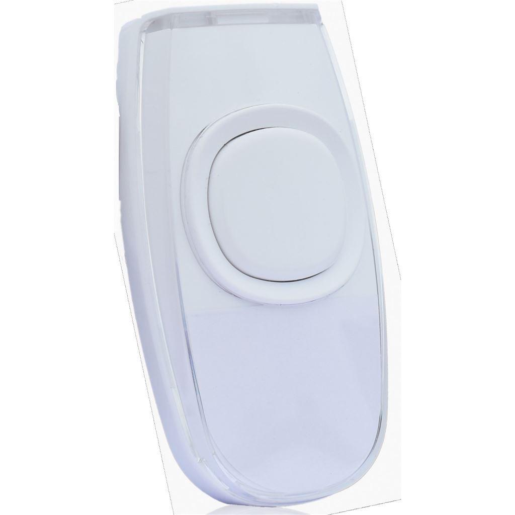 Solight bezdrôtové tlačidlo pre 1L62 a 1L63, 200m, biele, learning code, kryt na menovku