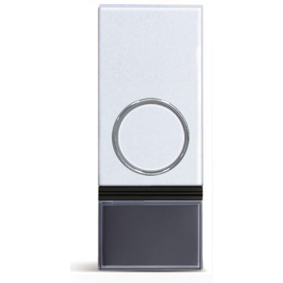 Solight bezdrôtové tlačidlo pre 1L28 a 1L29, 200m, biele, learning code, kryt na menovku