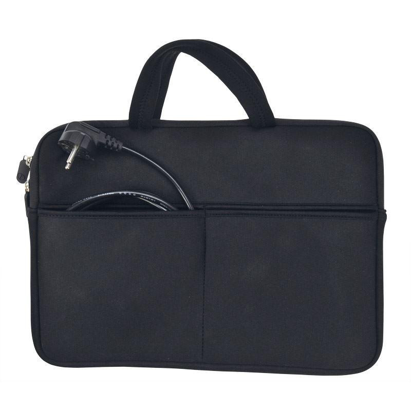 Solight neoprénové puzdro na notebook 13 - 14 , 2 tašky, držadlá, čierna