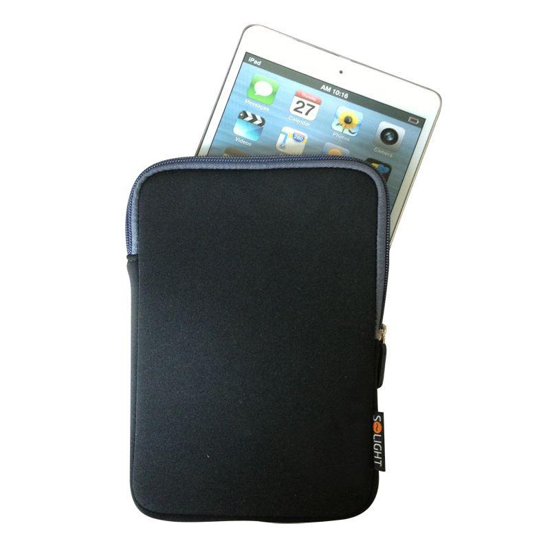 Solight neoprénové puzdro na tablet, e-čítačku do 8 , nárazuvzdorné polstrovanie, čierne