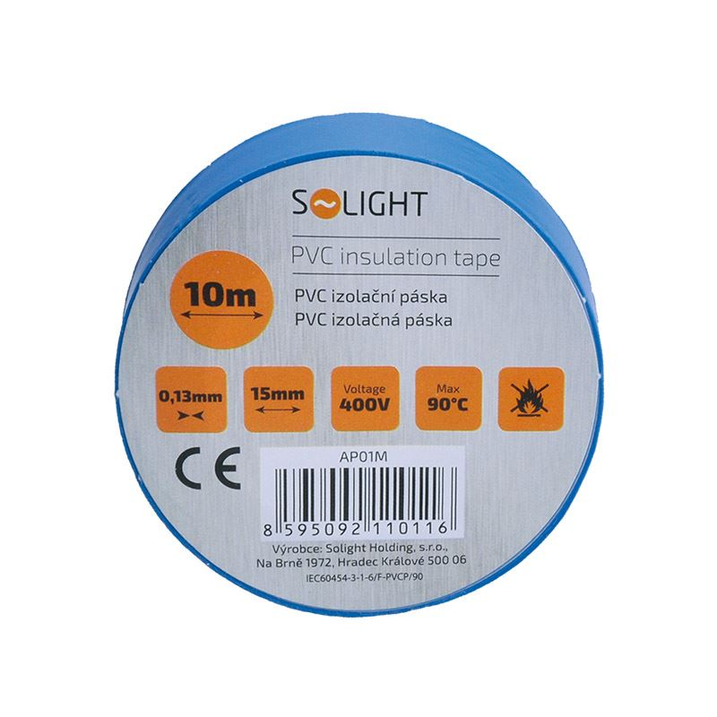 Solight izolačná páska, 15mm x 0,13mm x 10m, modrá