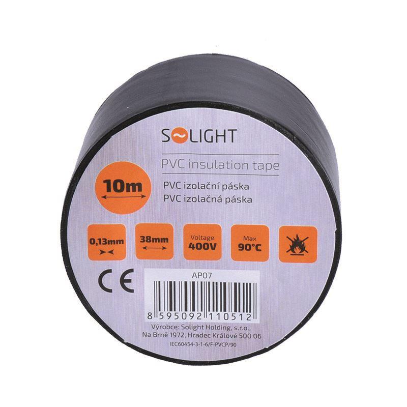 Solight izolačná páska, 38mm x 0,13mm x 10m, čierna