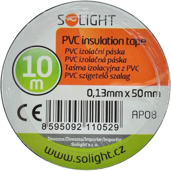 Solight izolačná páska, 50mm x 0,13mm x 10m, čierna
