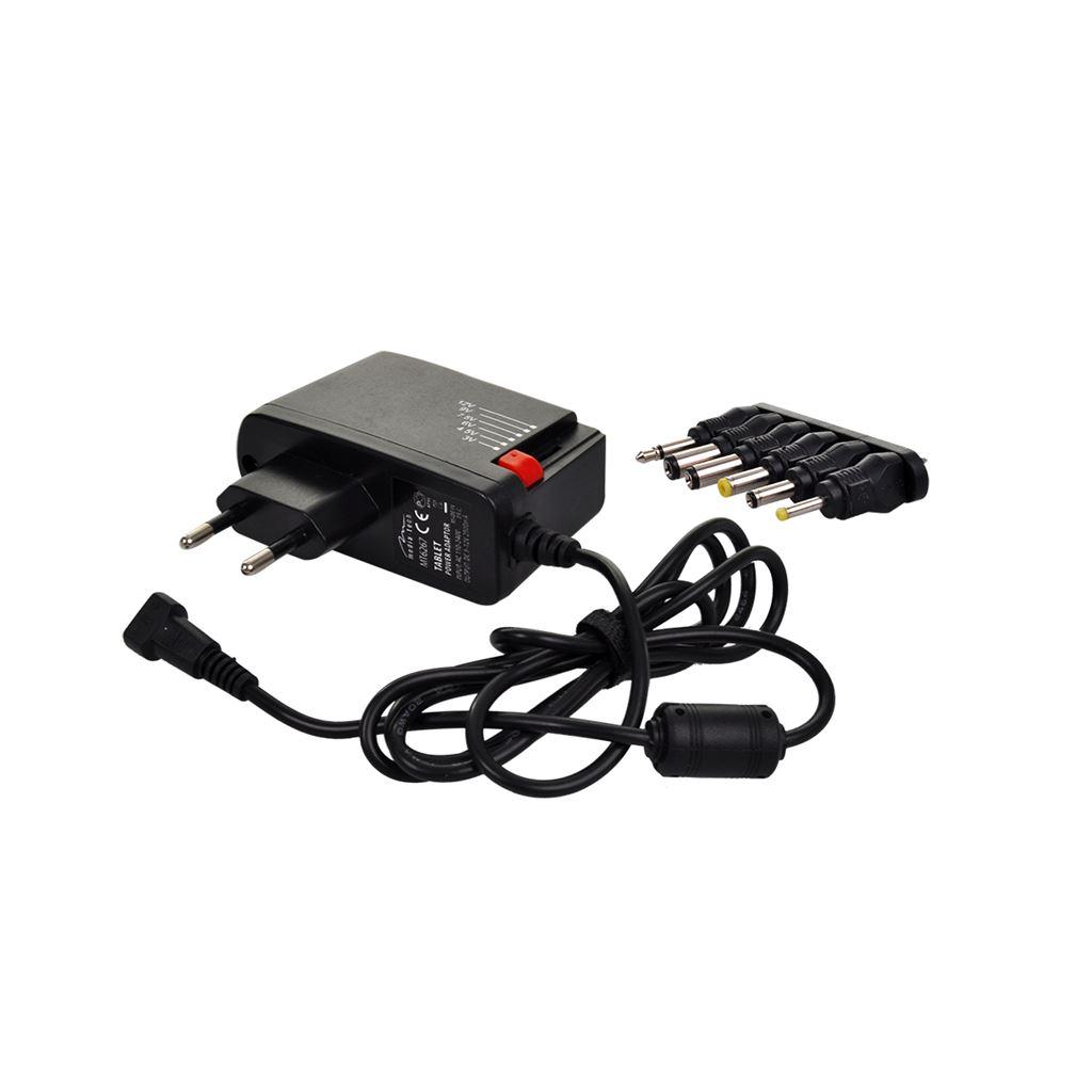 Solight univerzálny sieťový adaptér 1000mA, stabilizovaný, výmenné konektory