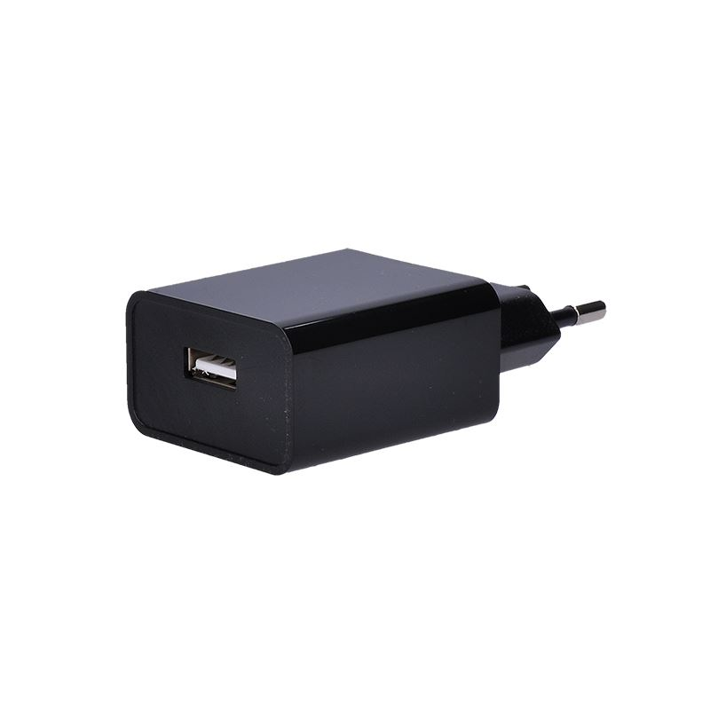 Solight USB nabíjací adaptér, 1x USB, 2400mA, AC 230V, čierny