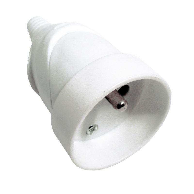 Solight zásuvka priama, IP20, biela