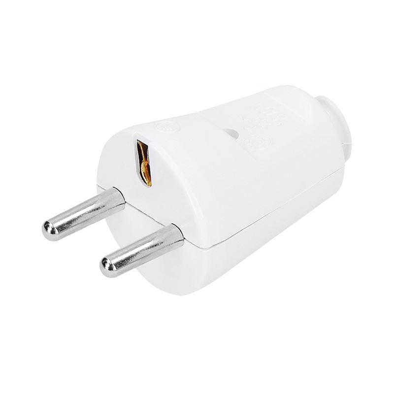 Solight zástrčka priama, IP20, bílá