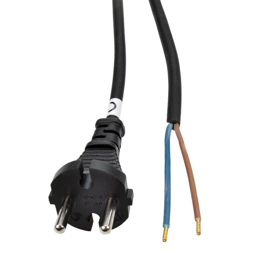 Solight flexo šnúra, 10m, 2 x 1.5mm2, gumová H05RR-F2, čierna