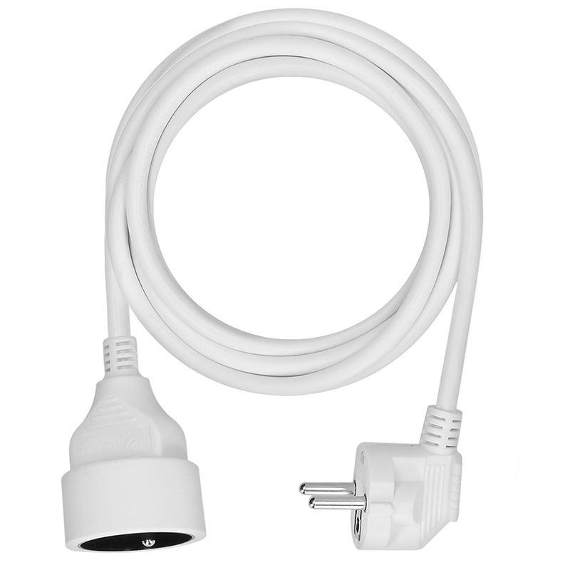 Solight predlžovací kábel - spojka, 1 zásuvka, biela, 3m