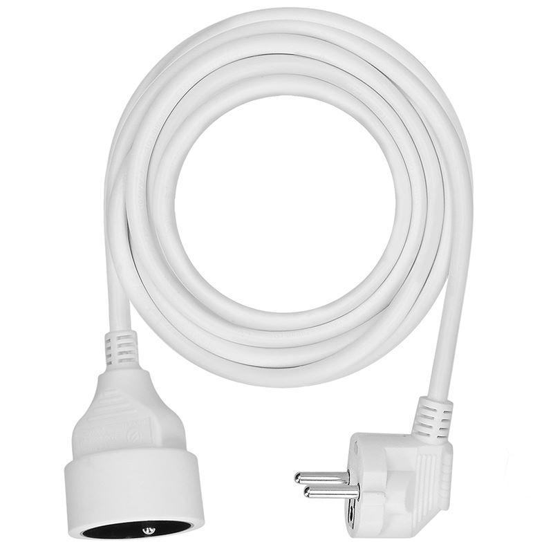 Solight predlžovací kábel - spojka, 1 zásuvka, biela, 5m
