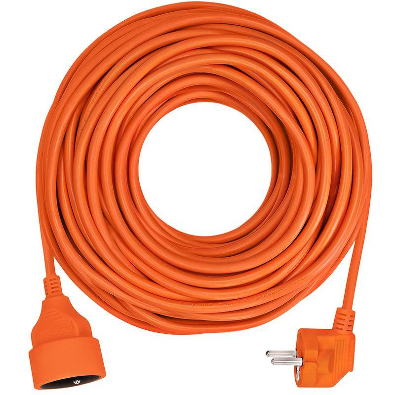 Solight predlžovací kábel - spojka, 1 zásuvka, oranžová, 30m
