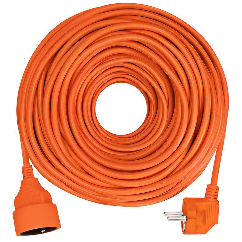 Solight predlžovací kábel - spojka, 1 zásuvka, oranžová, 25m