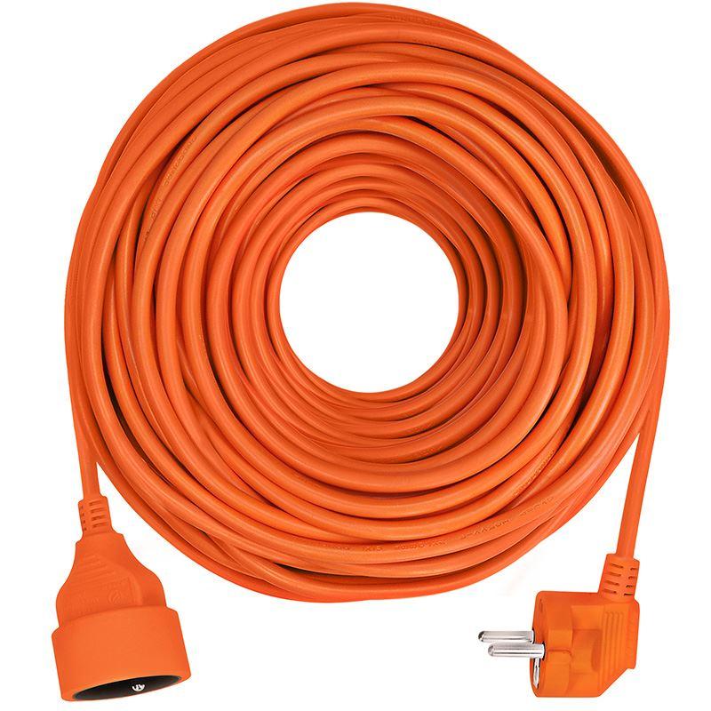 Solight predlžovací prívod - spojka, 1 zásuvka, 40 m, 3 x 1,5mm2, oranžová
