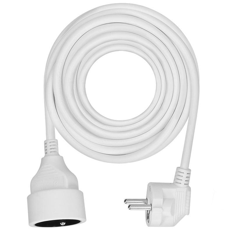 Solight predlžovací kábel - spojka, 1 zásuvka, biela, 7m