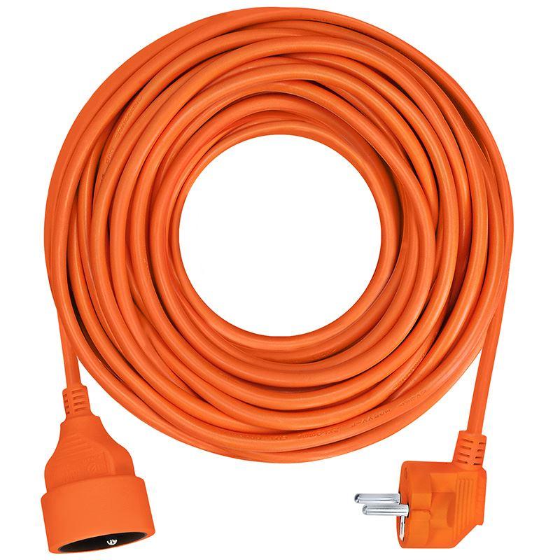 Solight predlžovací kábel - spojka, 1 zásuvka, oranžová, 7m
