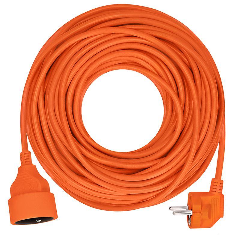 Solight predlžovací kábel - spojka, 1 zásuvka, oranžová, 20m