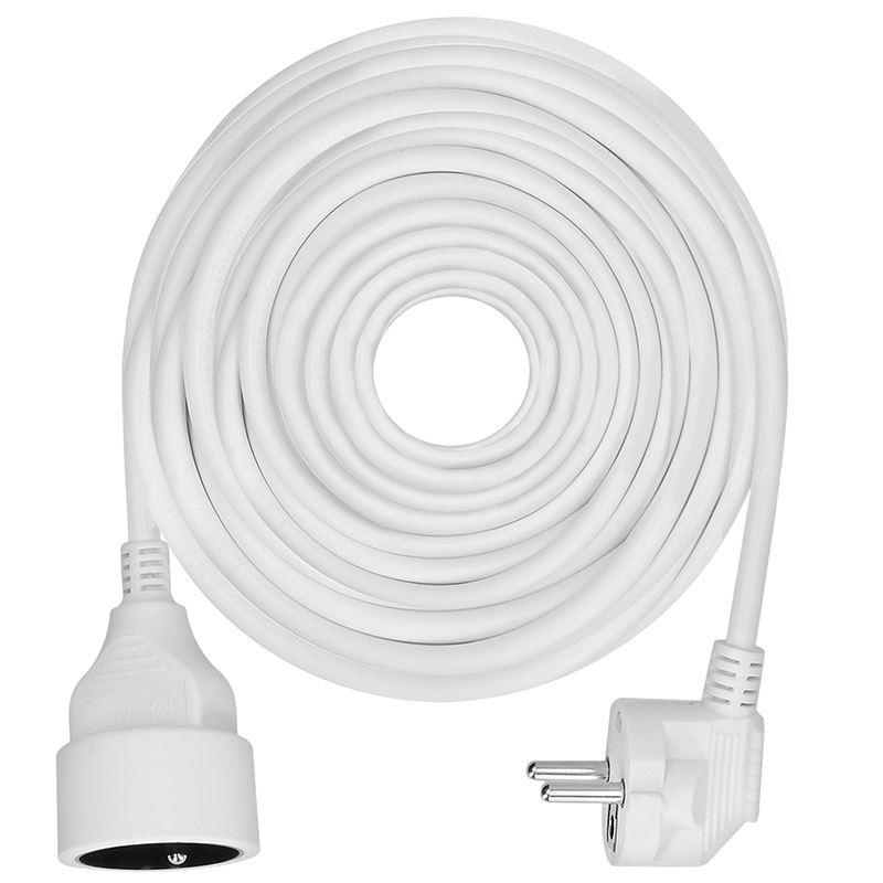 Solight predlžovací kábel - spojka, 1 zásuvka, biela, 15m