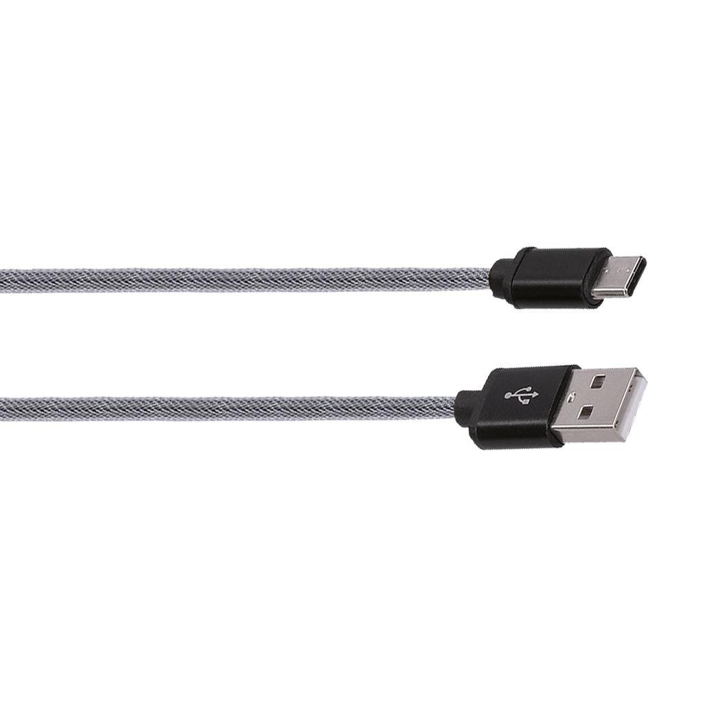 Solight USB-C kábel, USB 2.0 A konektor - USB-C 3.1 konektor, blister, 1m