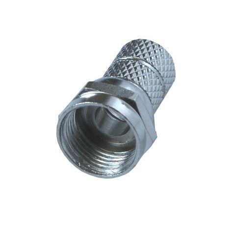 Solight anténny F konektor, skrutkovaci, priemer: 5mm, 5ks, sáčok