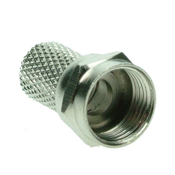Solight anténny F-konektor, skrutkovacie, priemer: 6,5mm, 10ks, sáčok