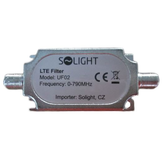 Solight pásmový LTE filter, rozsah 0-790MHz, max. 60. kanál DvB-T