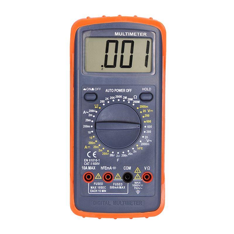 Solight multimeter, max. AC 600V/10A, max. DC 600V/10A, test diódy, bzučiak, hFE, kapacita, odpor