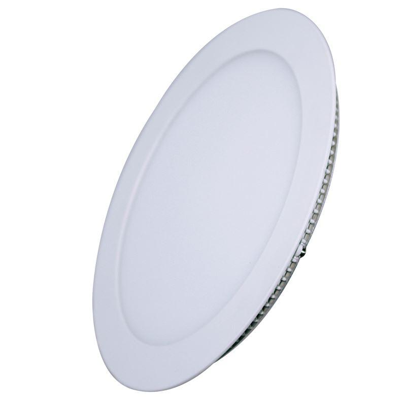 Solight LED mini panel, podhľadový, 12W, 900lm, 4000K, tenký, okrúhly, biely