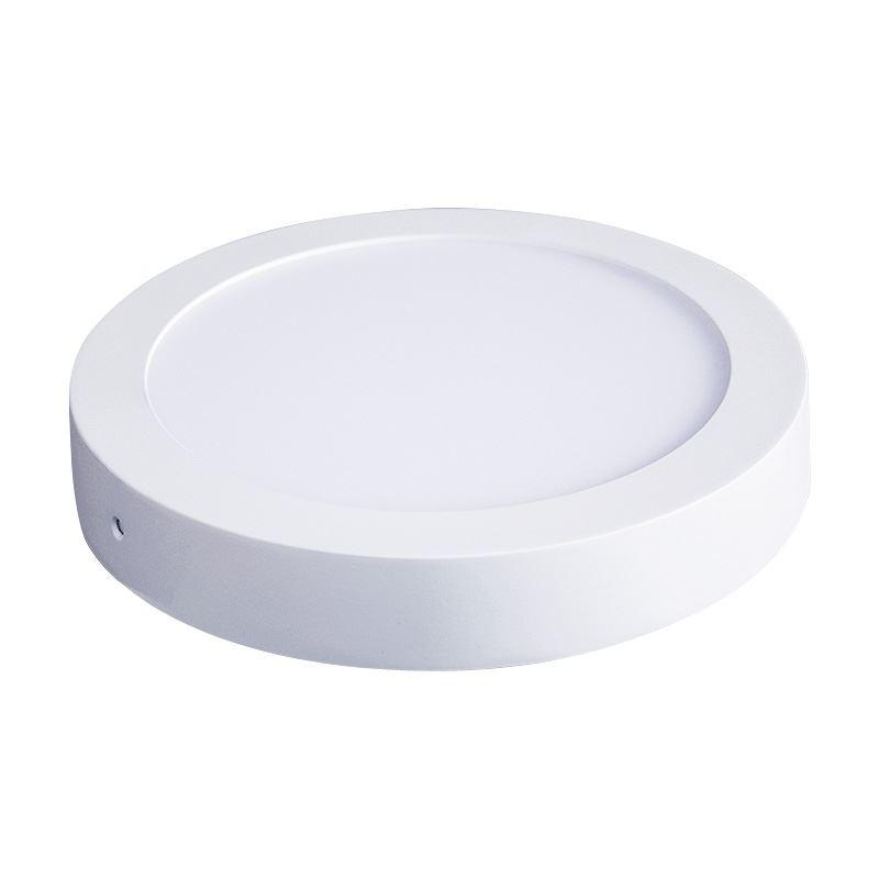 Solight LED panel prisazený, 12W, 900lm, 3000K, okrúhle, biele