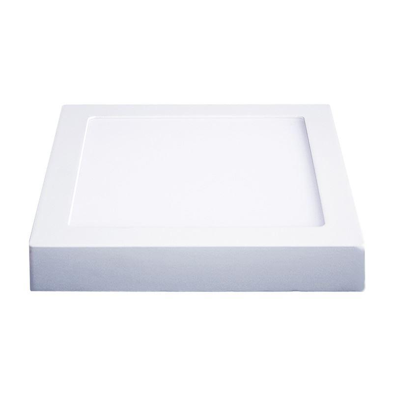Solight LED panel prisazený, 12W, 900lm, 3000K, štvorcové, biele