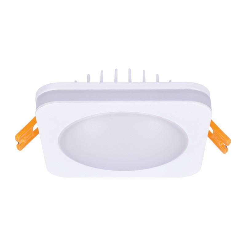 Solight LED podhľadové svietidlo, 10W, 800lm, 4000K, IP44, štvorcové