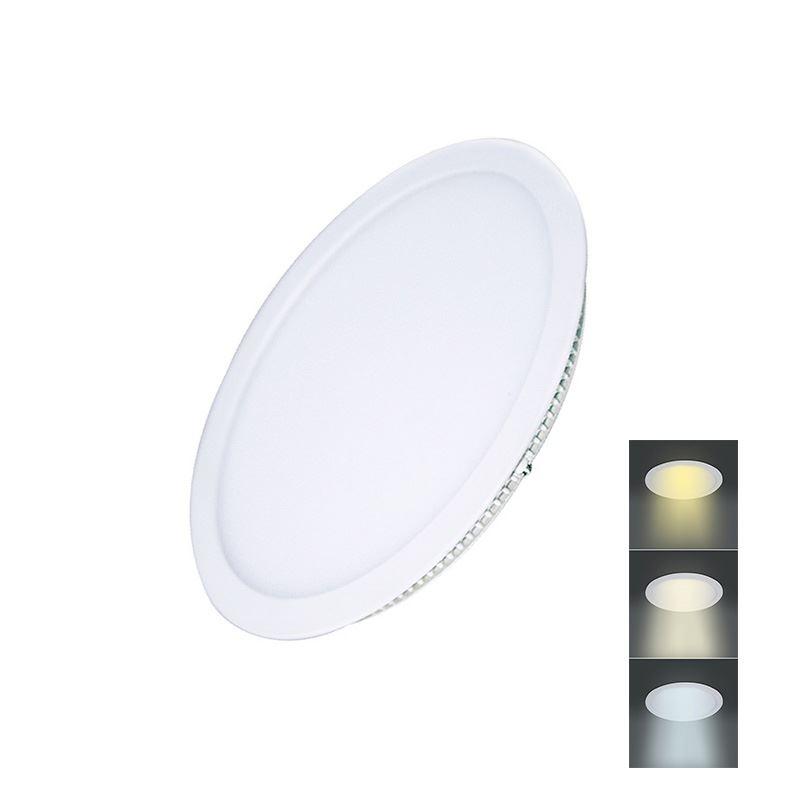 Solight LED mini panel CCT, podhľadový, 12W, 900lm, 3000K, 4000K, 6000K, okrúhly