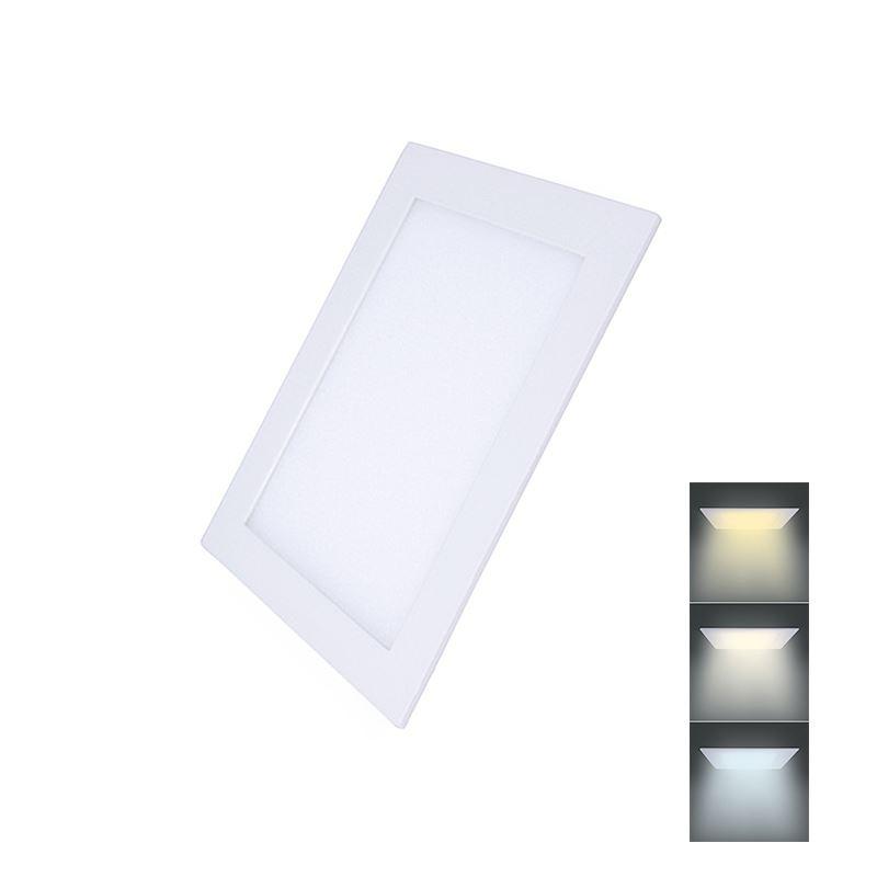 Solight LED mini panel CCT, podhľadový, 12W, 900lm, 3000K, 4000K, 6000K, štvorcový