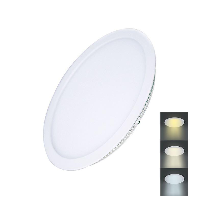 Solight LED mini panel CCT, podhľadový, 18W, 1530lm, 3000K, 4000K, 6000K, okrúhly