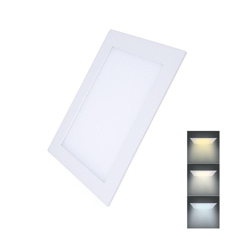 Solight LED mini panel CCT, podhľadový, 18W, 1530lm, 3000K, 4000K, 6000K, štvorcový