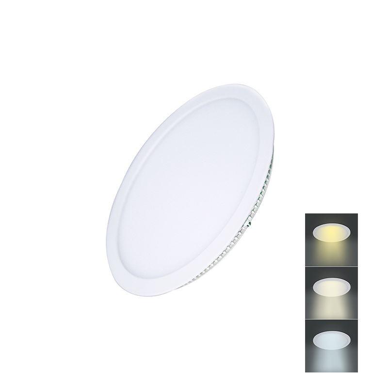Solight LED mini panel CCT, podhľadový, 6W, 450lm, 3000K, 4000K, 6000K, okrúhly