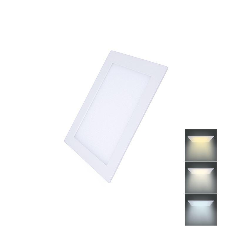 Solight LED mini panel CCT, podhľadový, 6W, 450lm, 3000K, 4000K, 6000K, štvorcový