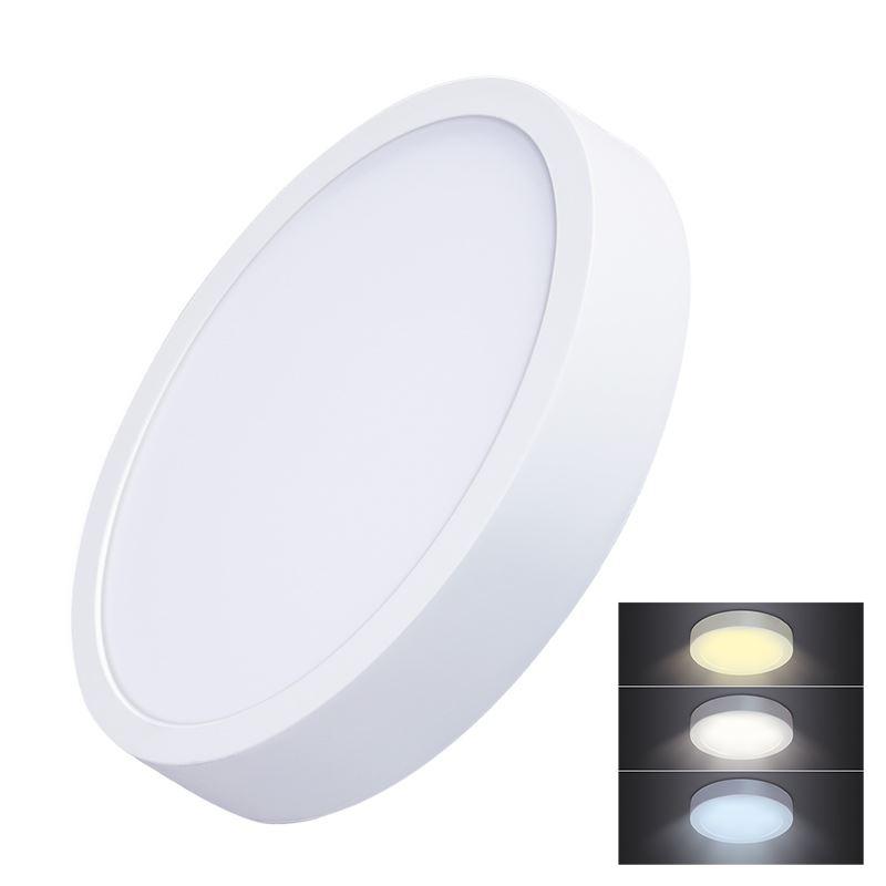Solight LED mini panel CCT, prisazený, 24W, 1800lm, 3000K, 4000K, 6000K, okrúhly