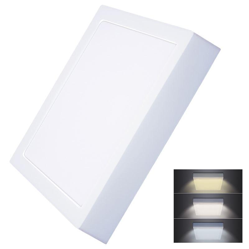 Solight LED mini panel CCT, prisazený, 24W, 1800lm, 3000K, 4000K, 6000K, štvorcový