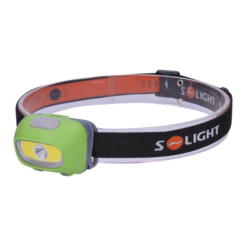 Solight LED čelové svietidlo, 3W Cree + 3W COB, 120lm, bílé + červené svtlo, 3x AAA