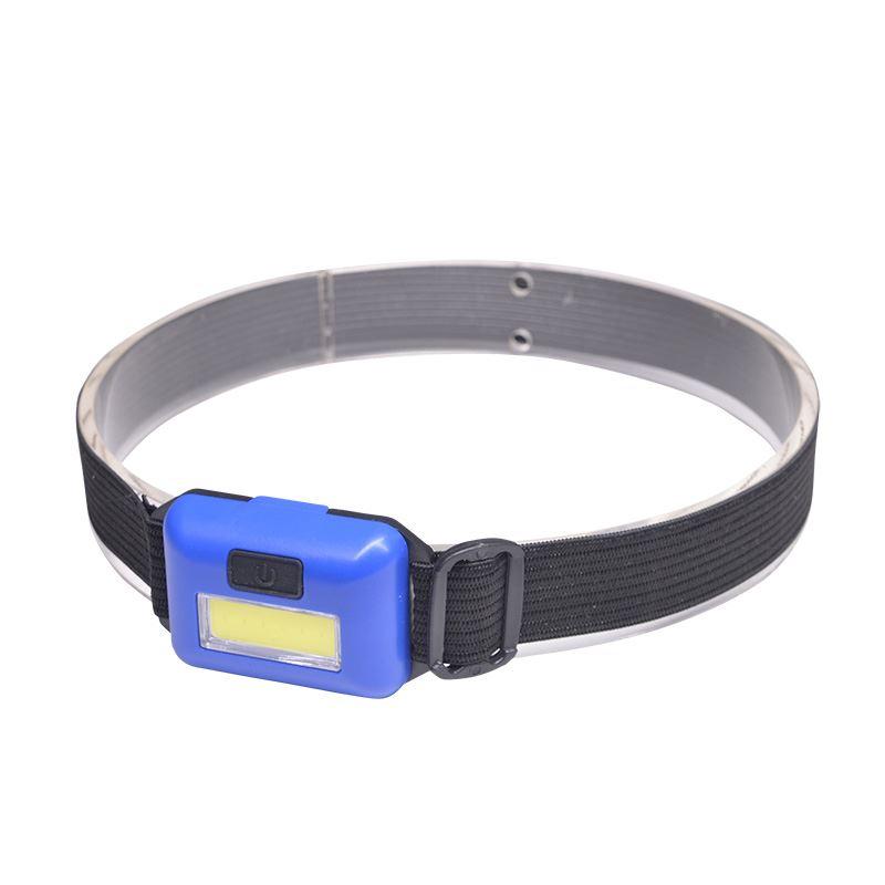 Solight čelová LED COB svietidlo, 3W, modrá