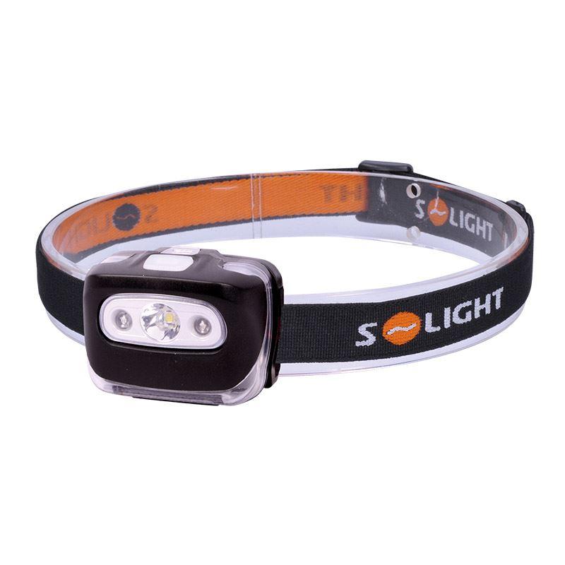 Solight čelová LED svietidlo, 3W + červené svetlo, 3x AAA