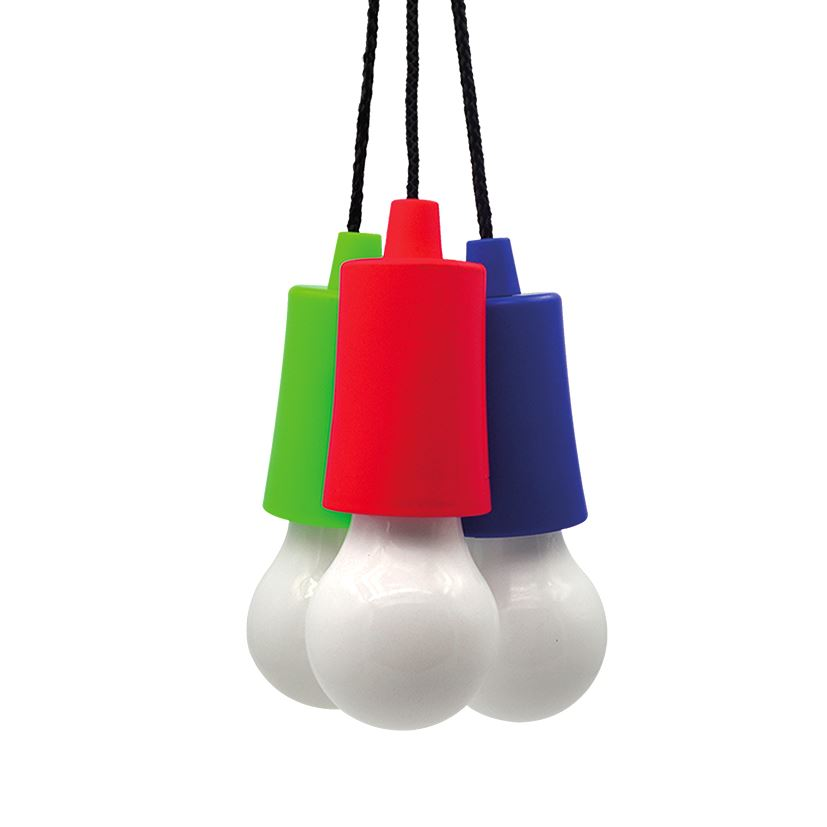 Solight LED svietidlo - žiarovka, 1W, 50lm, 3 x AAA, displej box