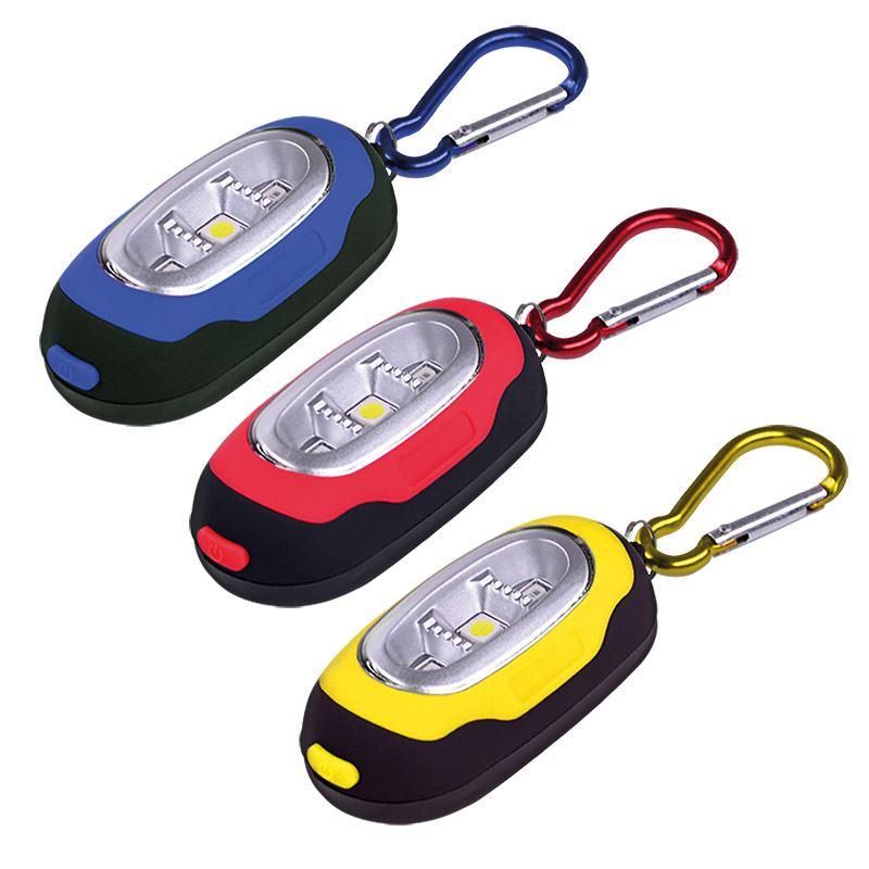Solight LED svietidlo s karabínou, 3x LED, 2x CR2032 súčasťou